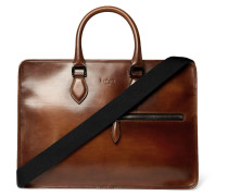 Un Jour Leather Briefcase - Brown