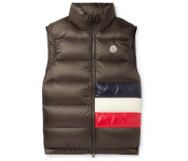 Tib Slim-fit Quilted Shell Down Gilet - Green
