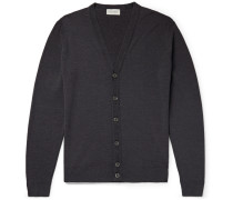 Burley Slim-fit Merino Wool Cardigan - Dark gray