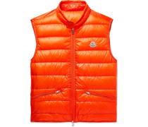 Quilted Shell Down Gilet - Orange