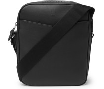 Hampstead Full-grain Leather Messenger Bag - Black