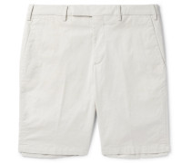 Steven Slim-fit Cotton-poplin Chino Shorts