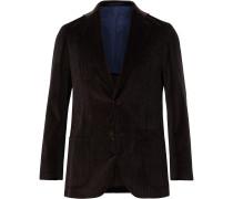 Chocolate Kincaid No 1 Cotton-Corduroy Suit Jacket