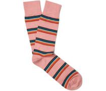 Artist Striped Cotton-blend Socks