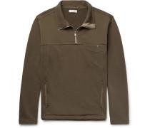 Explorer Loopback Cotton-jersey Half-zip Sweatshirt