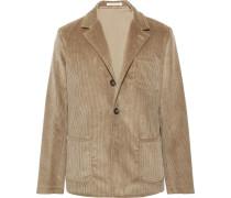 Light-brown Unstructured Cotton-corduroy Blazer