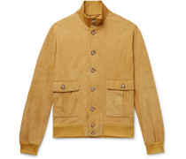 Valstarino Slim-fit Unlined Suede Bomber Jacket - Mustard