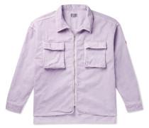 Oversized Cotton-corduroy Shirt Jacket - Purple
