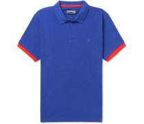 Palatin Contrast-tipped Cotton-piqué Polo Shirt - Royal blue