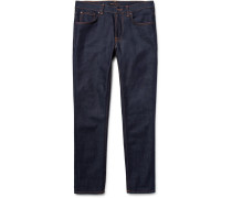 Lean Dean Slim-fit Dry Organic Denim Jeans - Dark denim