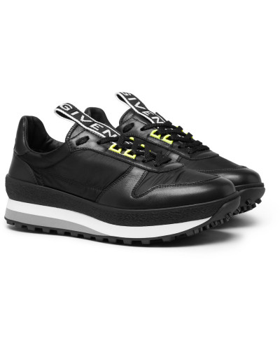 Tr3 Leather And Shell Sneakers - Black