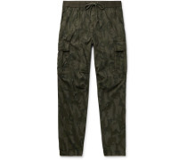 Tapered Camouflage-Print Cotton-Ripstop Cargo Trousers
