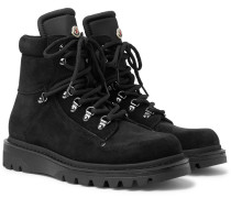 Egide Suede And Nylon Hiking Boots - Black