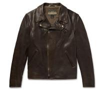 Raven Perfecto Slim-Fit Leather Biker Jacket