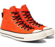 1970s Chuck Taylor All Star Canvas High-top Sneakers - Orange