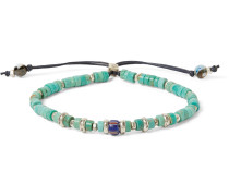 Sterling Silver, Turquoise and Agate Bracelet