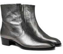 Wyatt Metallic Full-grain Leather Boots