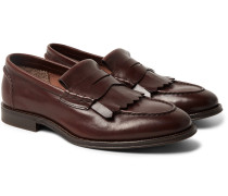 Leather Kiltie Loafers