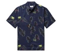 Button-Down Collar Printed Lyocell Shirt