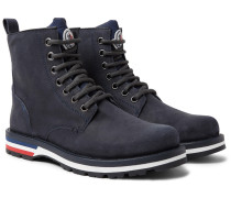 New Vancouver Suede And Shell Boots - Storm blue