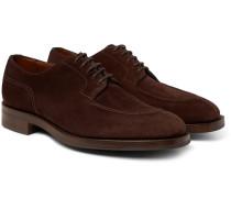 Dover Suede Derby Shoes - Dark brown