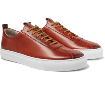 Hand-painted Leather Sneakers - Tan