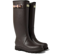 + Hunter Balmoral Rubber Wellington Boots - Brown