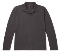 Cotton and Cashmere-Blend Zip-Through Cardigan