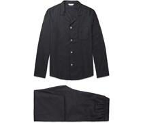 Lombard Patterned Cotton-Twill Pyjama Set