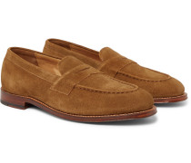 Suede Penny Loafers - Brown