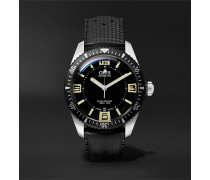 Divers Heritage Sixty-Five 40mm Stainless Steel and Rubber Watch, Ref. No. 01 733 7707 4064TS
