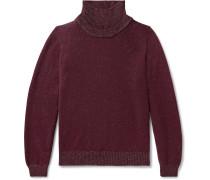 Mélange Merino Wool and Linen-Blend Rollneck Sweater