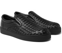 Dodger Intrecciato Leather Slip-on Sneakers
