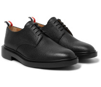 Pebble-grain Leather Derby Shoes
