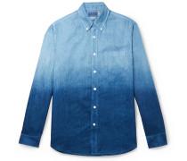 Slim-Fit Indigo-Dyed Two-Tone Linen-Chambray Shirt