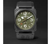 Military Type Automatic 42mm Ceramic and Rubber Watch, Ref. No. BR0392‐MIL-CE