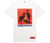 Logo-Appliquéd Printed Cotton-Jersey T-Shirt