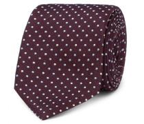6cm Embroidered Polka-dot Silk Tie