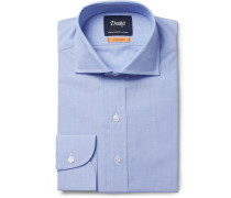 Blue Easyday Cutaway-collar End-on-end Cotton Shirt