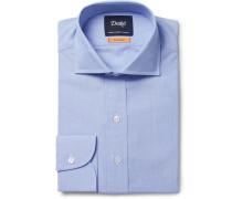 Blue Easyday Cutaway-collar End-on-end Cotton Shirt - Blue