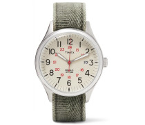 Waterbury United Stainless Steel And Stonewashed-canvas Watch - Green
