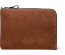 Suede Pouch - Brown