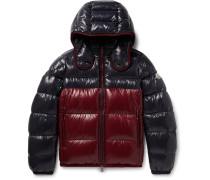 Harry Colour-block Quilted Shell Hooded Down Jacket