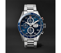 Carrera Automatic Chronograph 43mm Polished-steel Watch