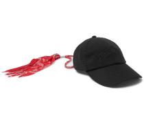 Bandana-Trimmed Logo-Embroidered Cotton-Twill Baseball Cap