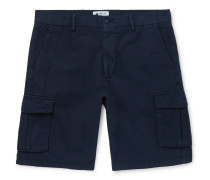 Cotton, Lyocell and Linen-Blend Cargo Shorts