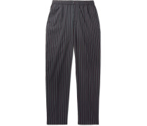 Bryan Striped Twill Trousers
