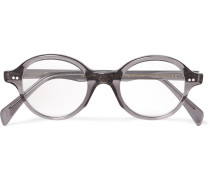Round-frame Acetate Optical Glasses - Gray