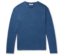 Indigo-dyed Mélange Cotton Sweater