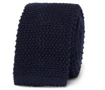 6cm Knitted Wool Tie - Navy